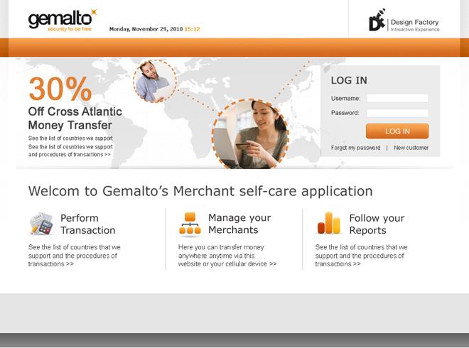 Gemalto Web Application
