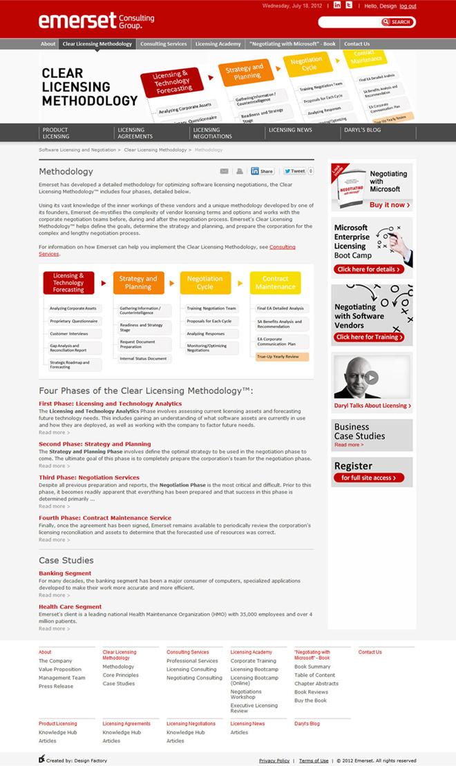 Emerset website