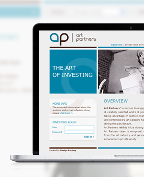 Art Partners website