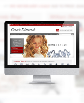 Genesis Diamonds website
