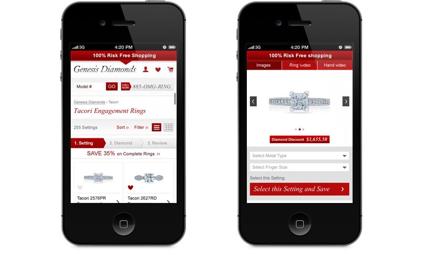 Genesis Diamonds mobile site
