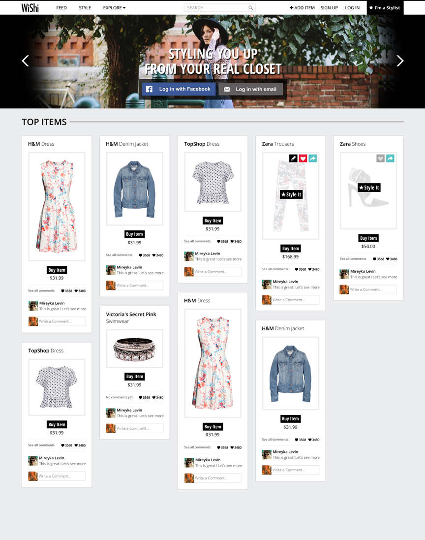 Wishi website