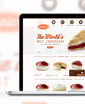 Junior's Cheesecake website
