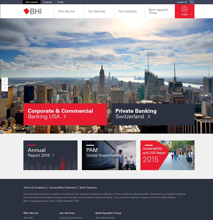 BHI Website homepage