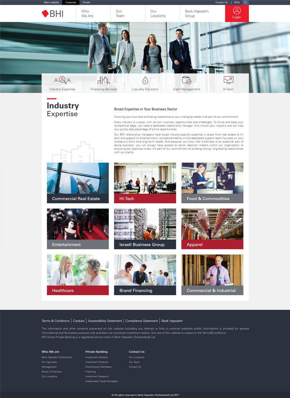 BHI website industry experties