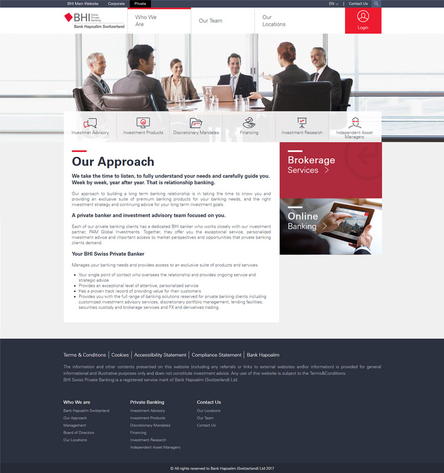 BHI website our approach