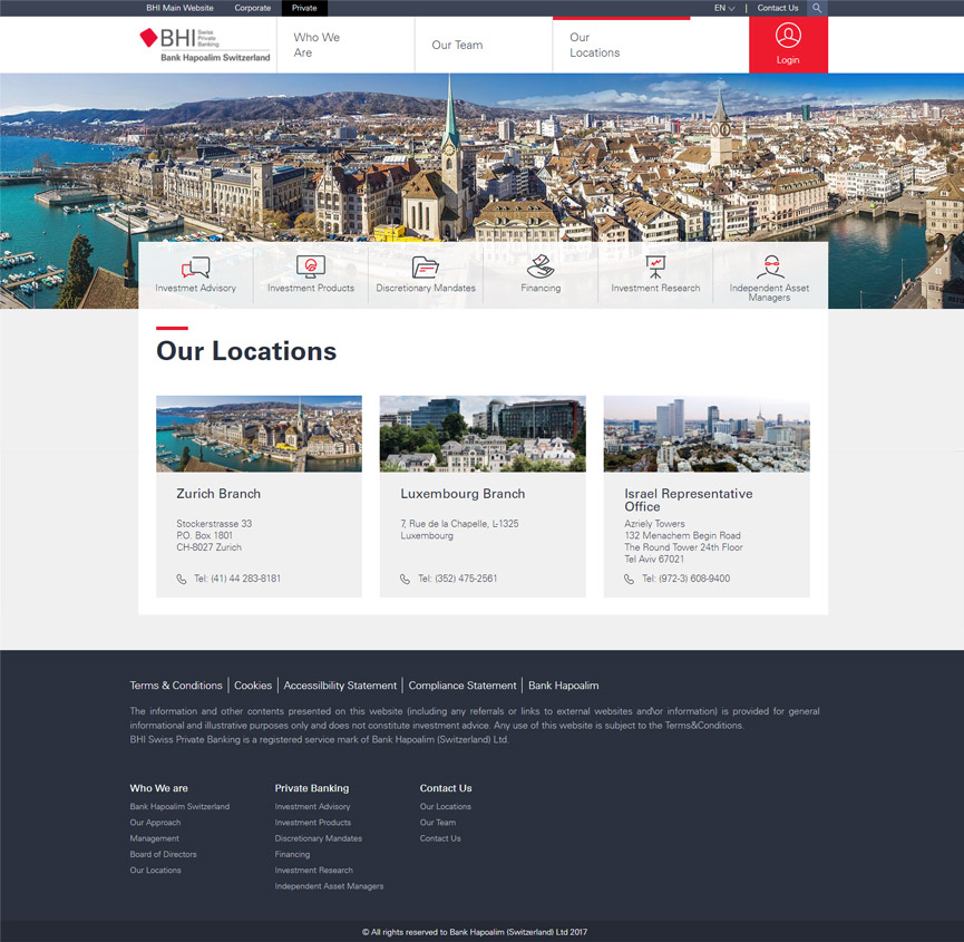 BHI WEBSITE OFFICES