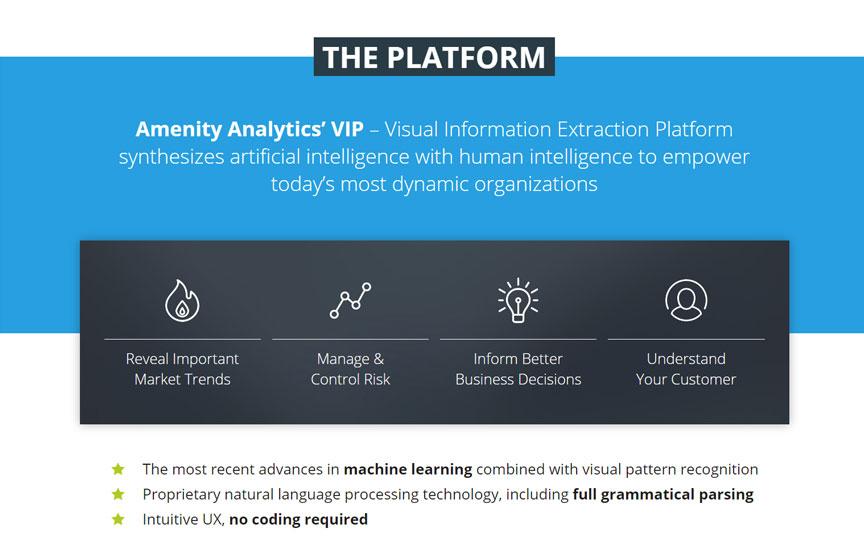 Amenity Analytics' The platform