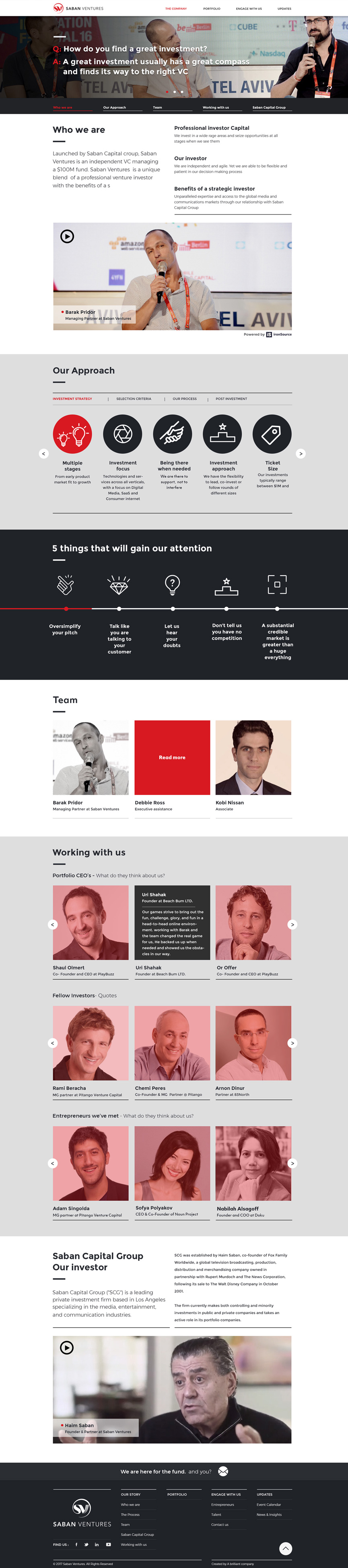 About Saban Ventures - one pager - Do scroll down
