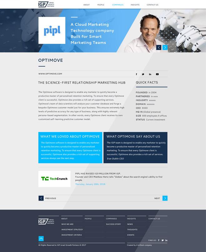 IGP portfolio company page