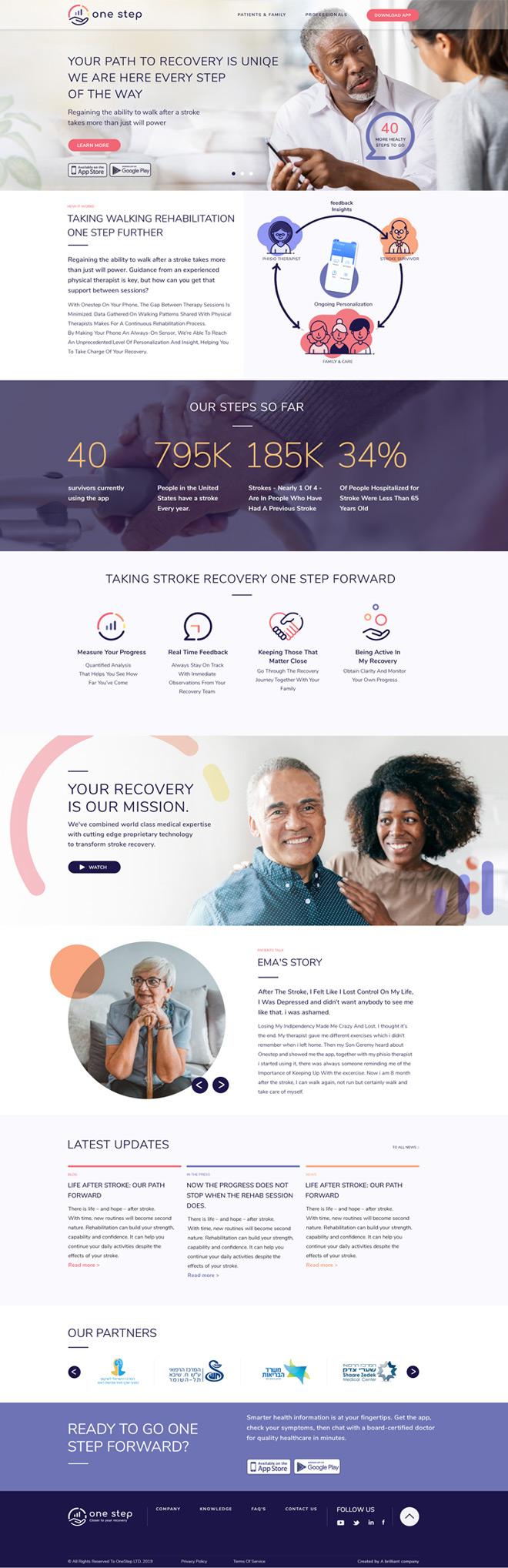 Onestep homepage